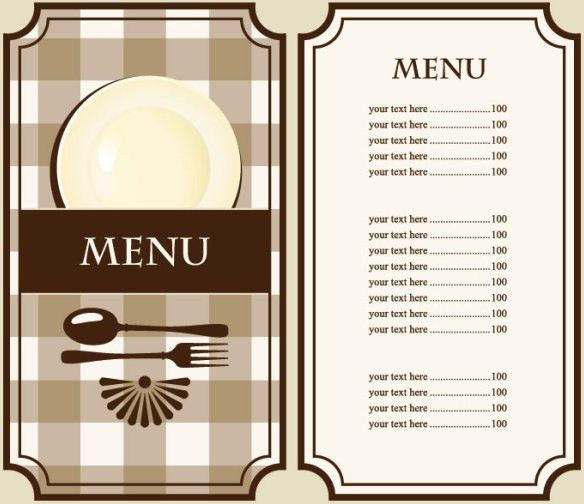 Set of cafe and restaurant menu cover template vector Free vector ...