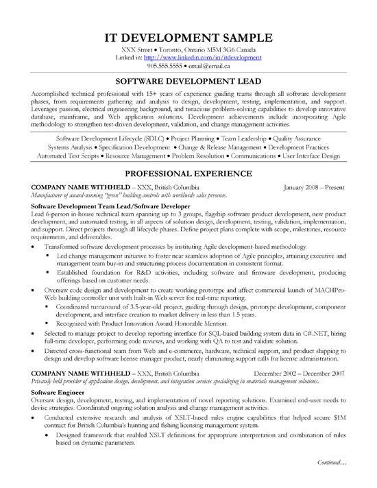 Technical Resume Examples. Technical Resume Examples Technical ...
