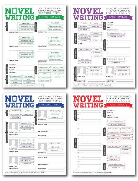 Novel Writing Brainstorming Templates V2.0 by rhinoandasmallbird ...