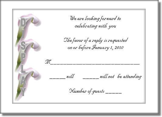 RSVP Template Designs Exclusively from Thinkwedding.com!