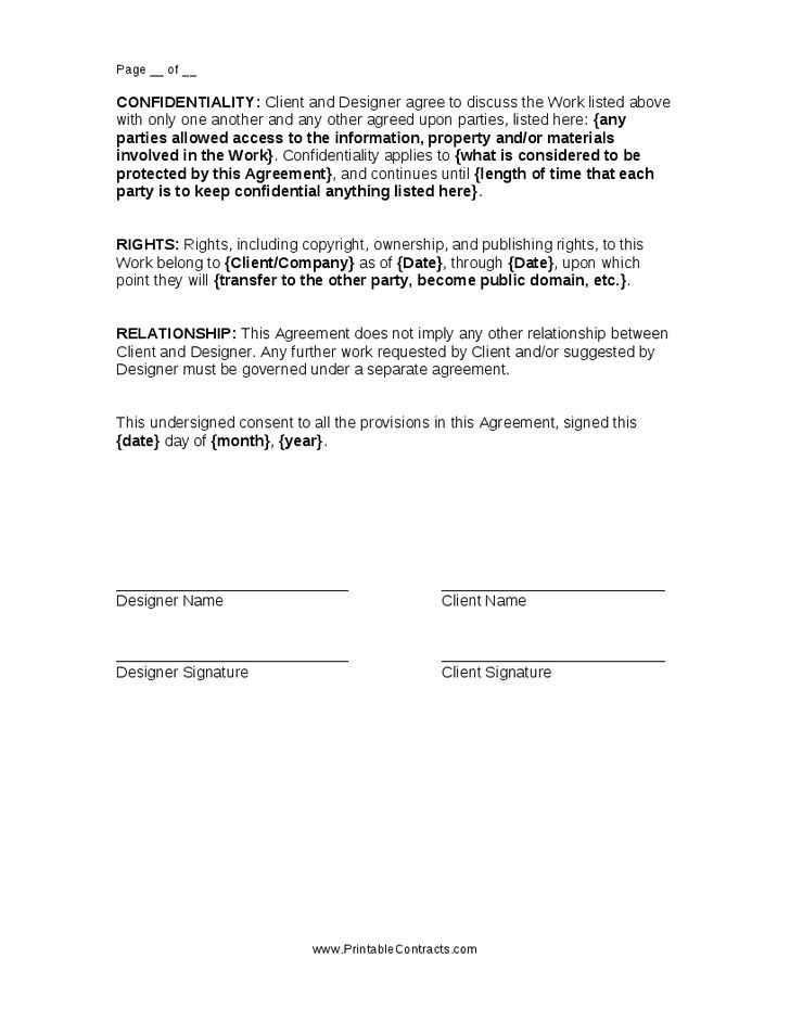 Legal Contract Template Free   Create professional resumes online ...