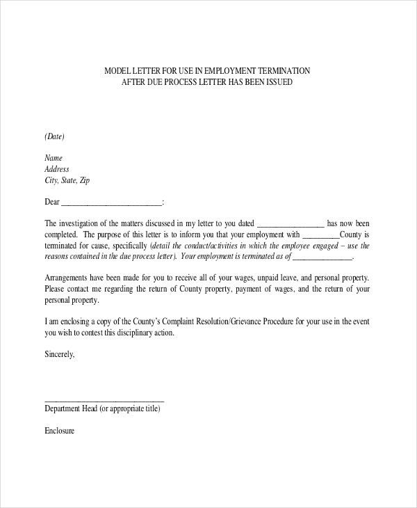 Termination Letter – 15+ Free Word, PDF Documents Download | Free ...
