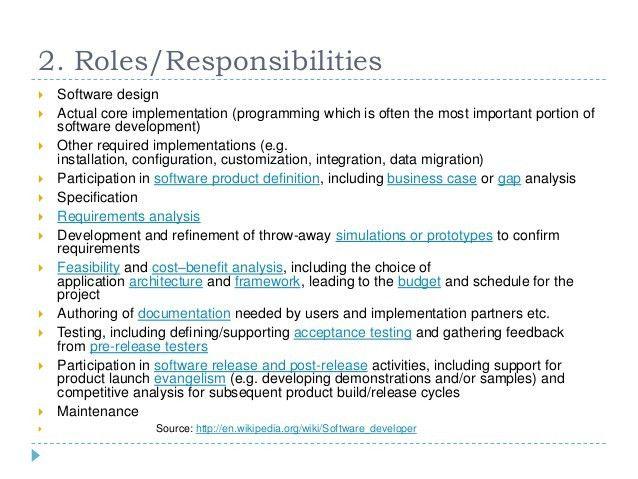4 java developer responsibilities. software developer ...