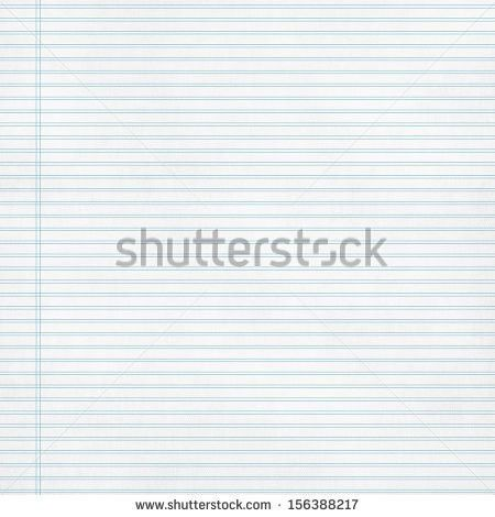 Vector Notebook Lined Paper Background Template Stock Vector ...