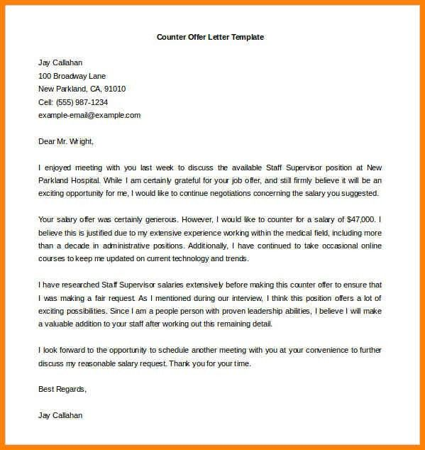 11+ counter offer letter example for personal injury | cashier resumes