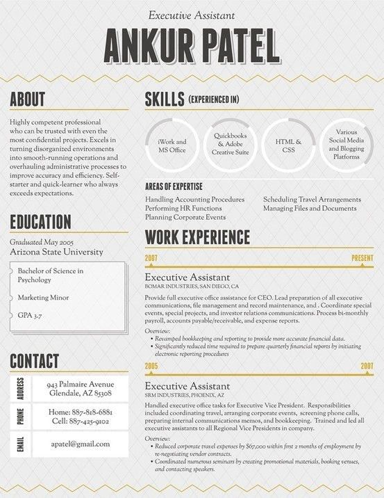 173 best CV's images on Pinterest | Cv design, Resume templates ...