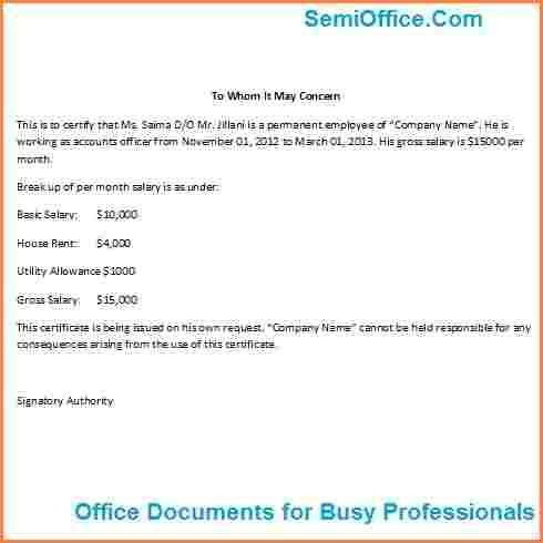 7+ salary certificate format for accountant | Sales Slip Template