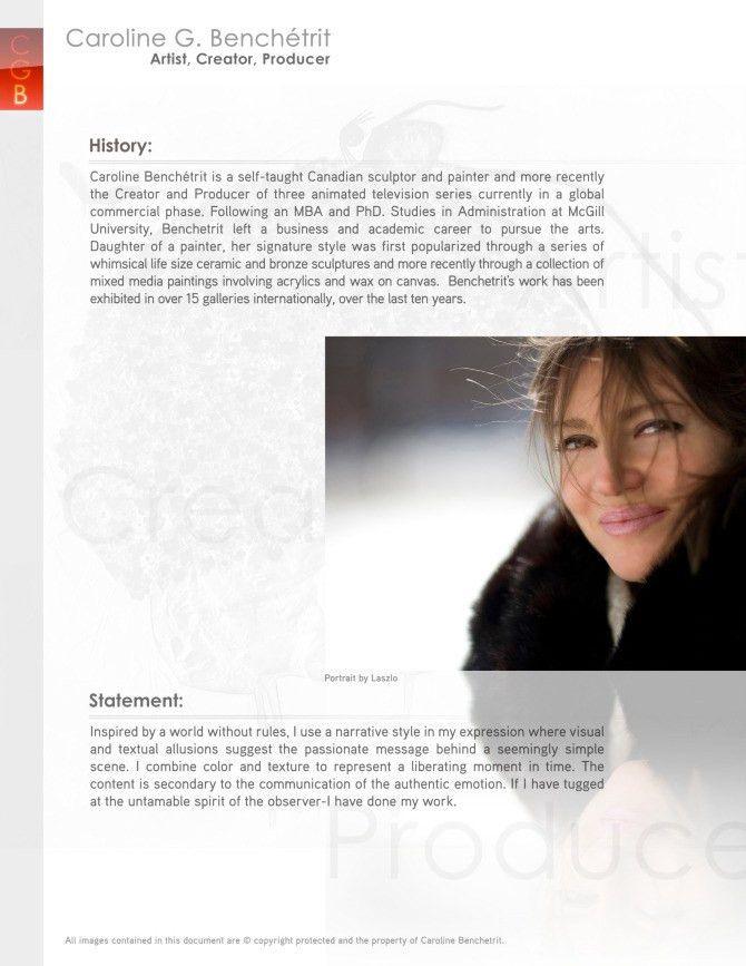 About Caroline Benchetrit-Artist - Caroline Benchetrit-Artist