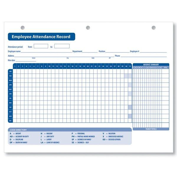 Simple Excel Format Attendance Sheet For Employee with Title and ...