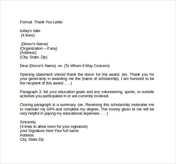 Superior Sample Thank You Letter Format   9+ Free Documents In PDF, Word