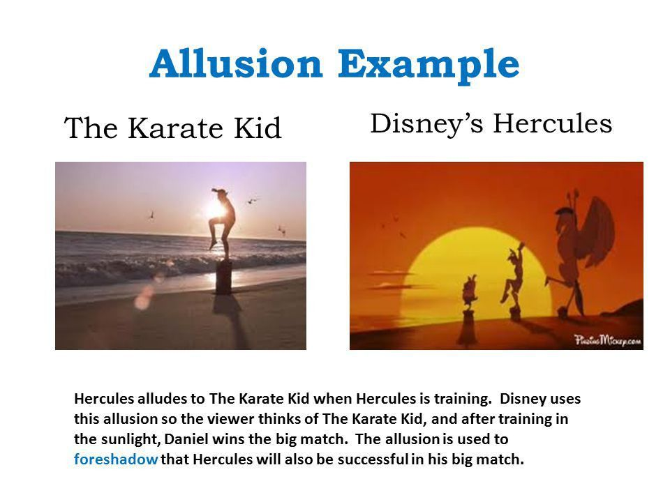 EXAMPLES OF ALLUSION - alisen berde