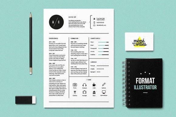 Cat - Resume template Illustrator | UX/UI Designer, Creative and ...