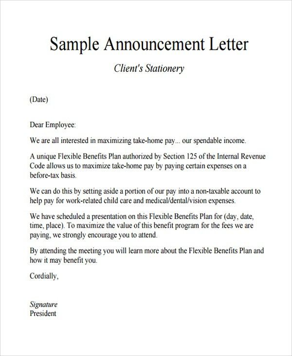 Free Printable Announcement Template Samples : Vlcpeque