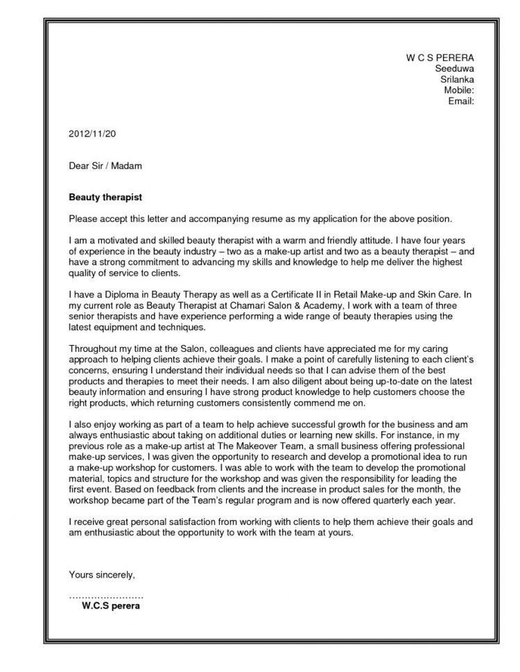 respiratory technician cover letter template for letter of perfect ...