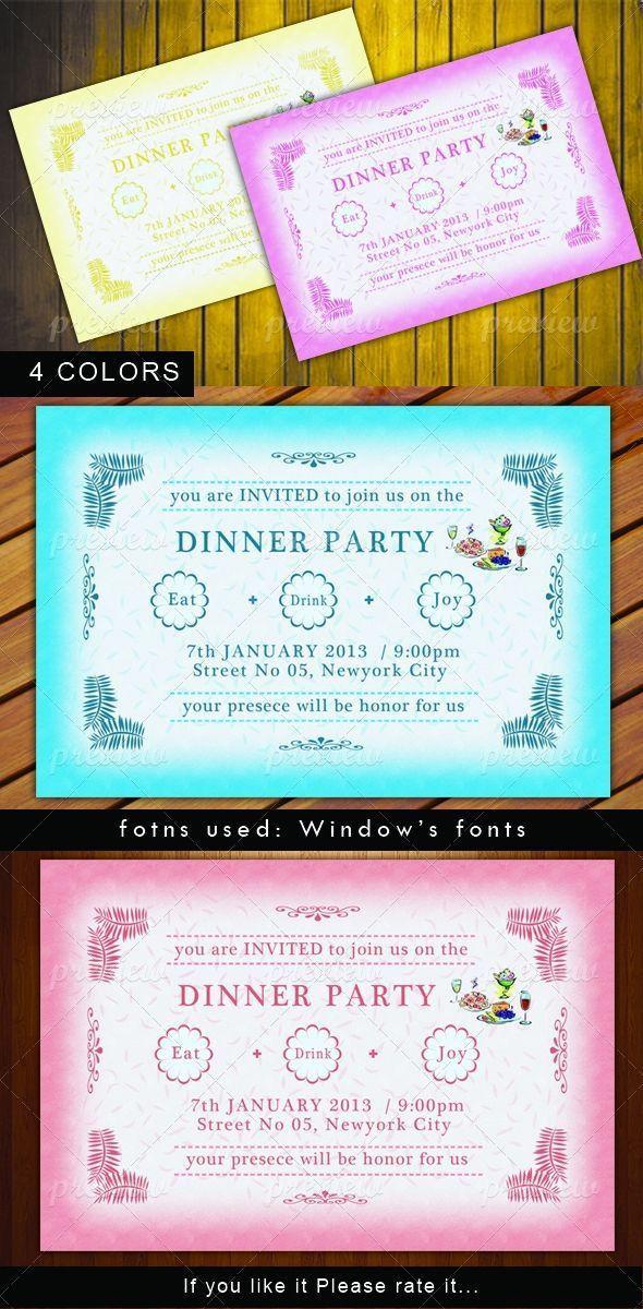 28 best Dinner Party Invitations images on Pinterest | Dinner ...