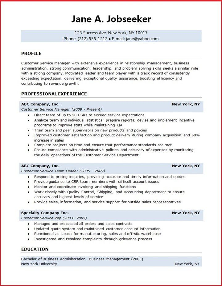 writing resume objective examples customer service and core ...