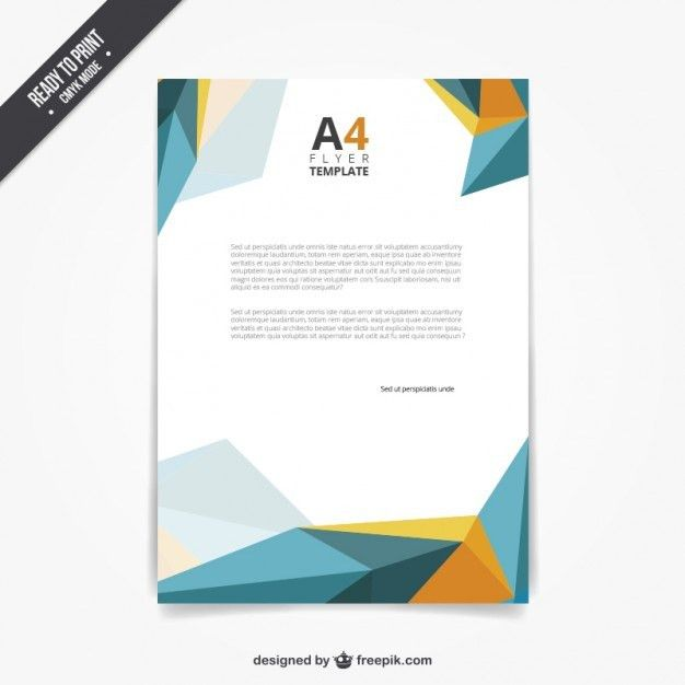 Flyer template in polygonal style Vector | Free Download