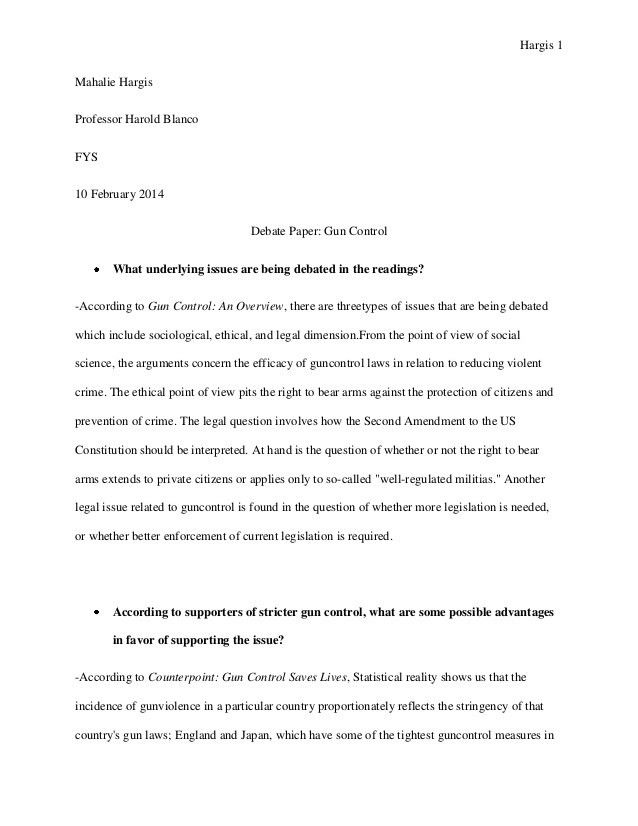 Gun control essay outline gun control essay gun control essay