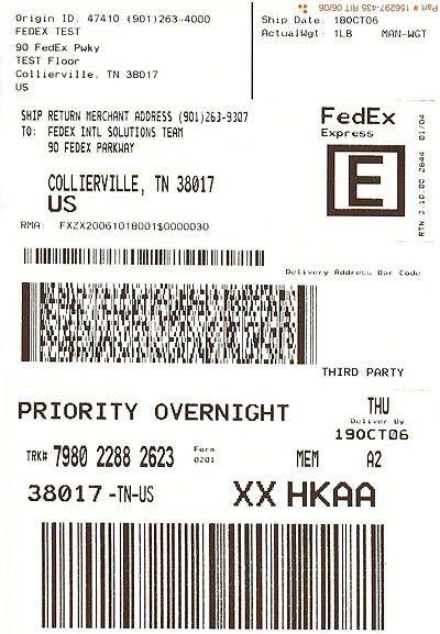 FedEx Return System - Quick Help - Return System