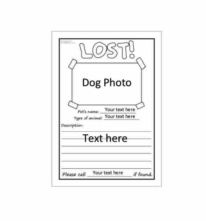 Found Dog Poster Template | Resumesample.csat.co