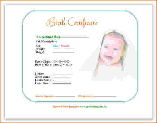 5+ free birth certificate template | teknoswitch