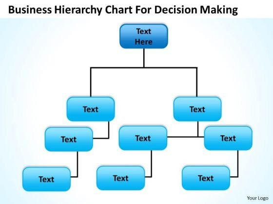 Org Chart Template PowerPoint Business Hierarchy For Decision ...