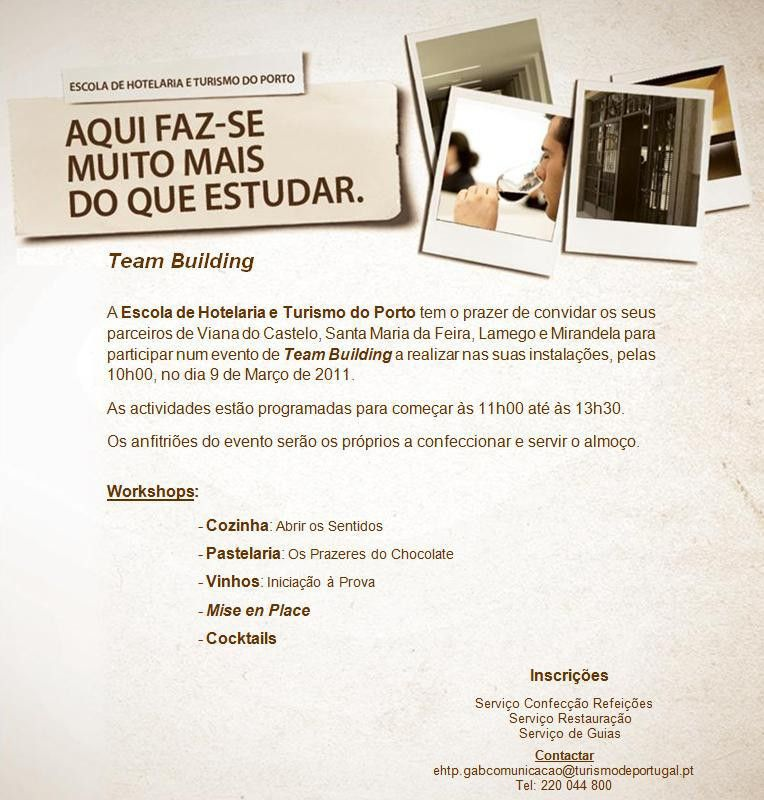 Invitation to the Team Building Action | Bruno Miguel Sousa ...