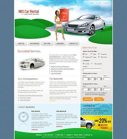 Banner templates microsoft word for car rental company