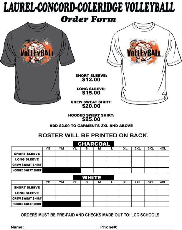 Laurel Concord Coleridge Public Schools - 2013 Volleyball T-Shirt ...