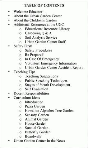 Docent Manual Development for the Oahu Urban Garden Center