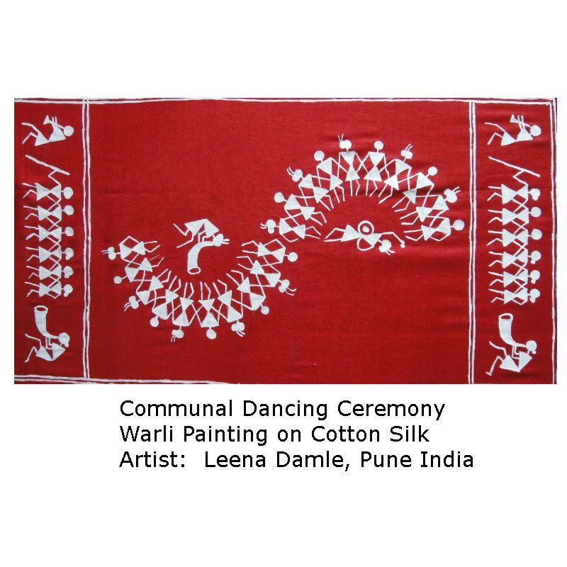 Communal Dancing - Warli Painting - The Art and Craft Gallery