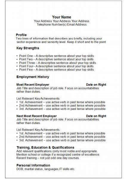 achievements example for resumes