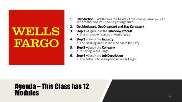 Wells Fargo Teller Interview