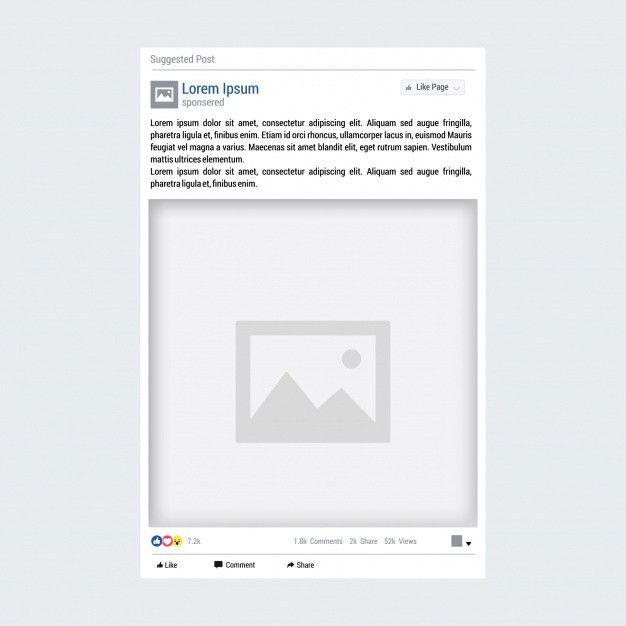 Facebook post template Vector | Premium Download