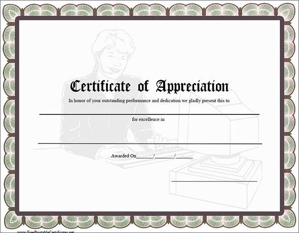 Certificate of Appreciation Template  24 Free Word PDF
