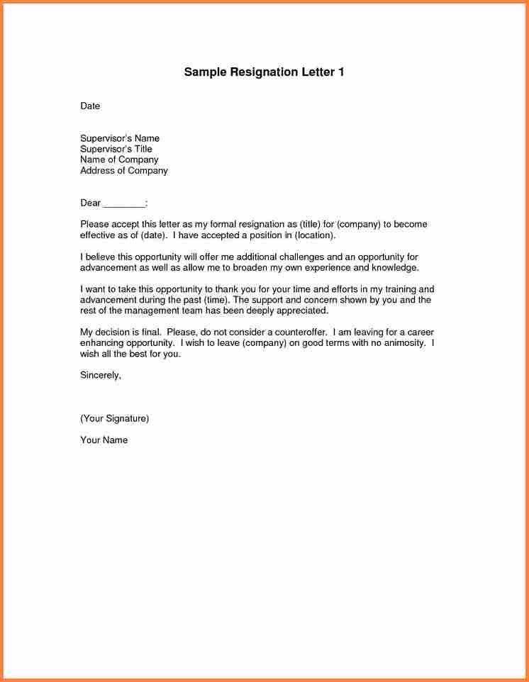 4+ good resignation letter   Resign Letter Job