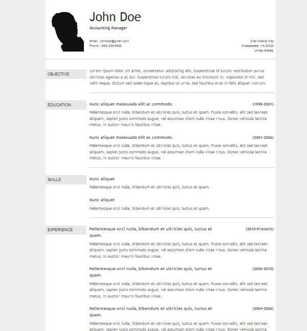 12 best My resumes to choose style images on Pinterest | Resume ...