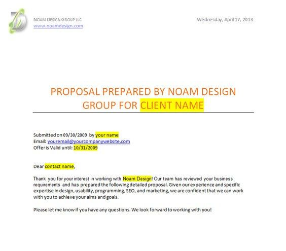 Website Proposal Template. This Website Technical Proposal ...