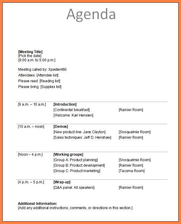 7+ meeting agenda samples | Invoice Example 2017