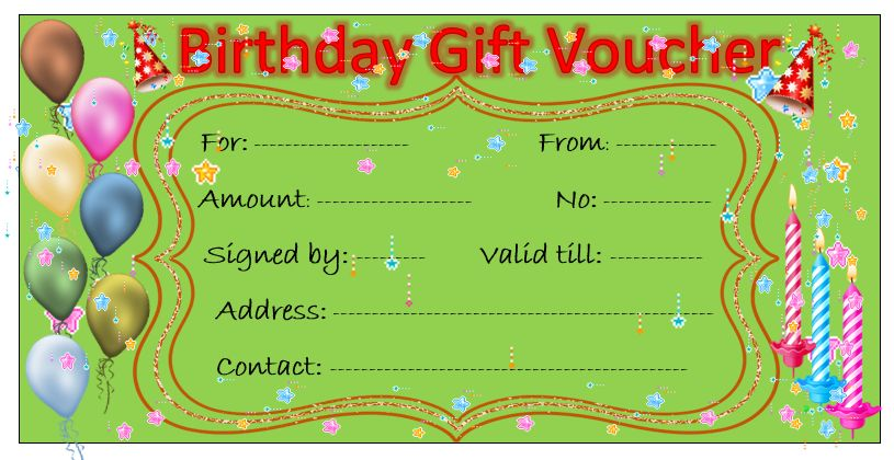 11 Free Gift Voucher Templates – Microsoft Word Templates
