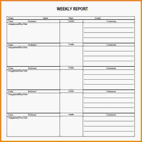 Weekly Report Templates.employee Weekly Status Report Template.jpg ...
