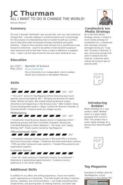 Agent Resume samples - VisualCV resume samples database