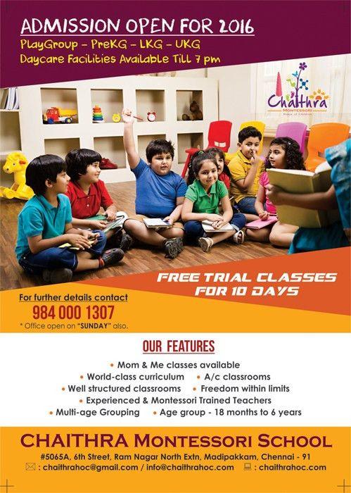 Design - Chaithra Montessori School, Madipakkam, Chennai