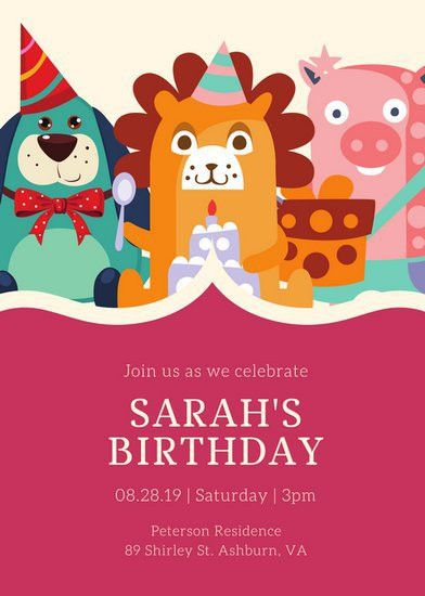 Kids Party Invitation Templates - Canva