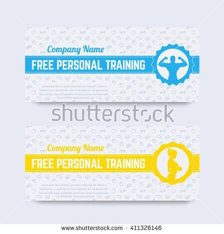 Free Personal Training Gift Voucher Design Stock Vector 411326146 ...