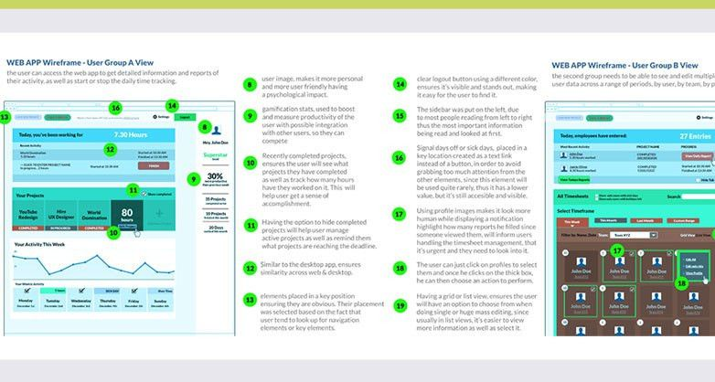 Timesheets App - Senior UX UI Designer & Graphic Designer ...