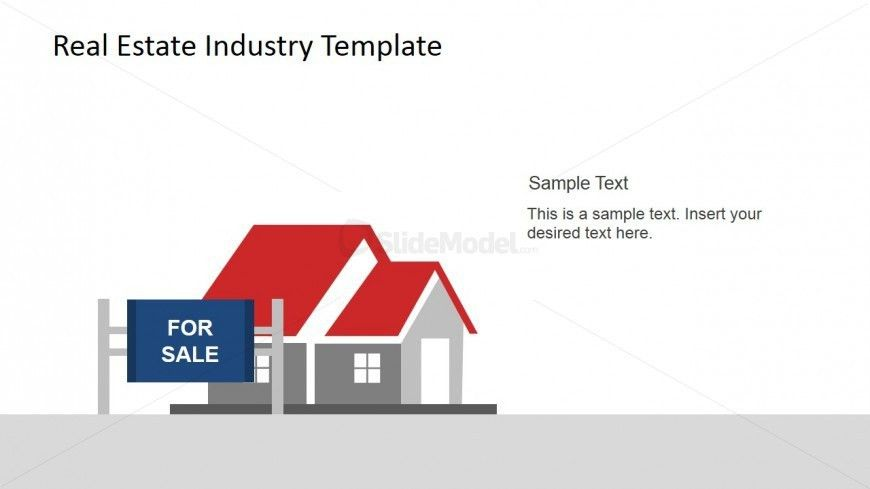 For Sale Sign and House PowerPoint Scene - SlideModel