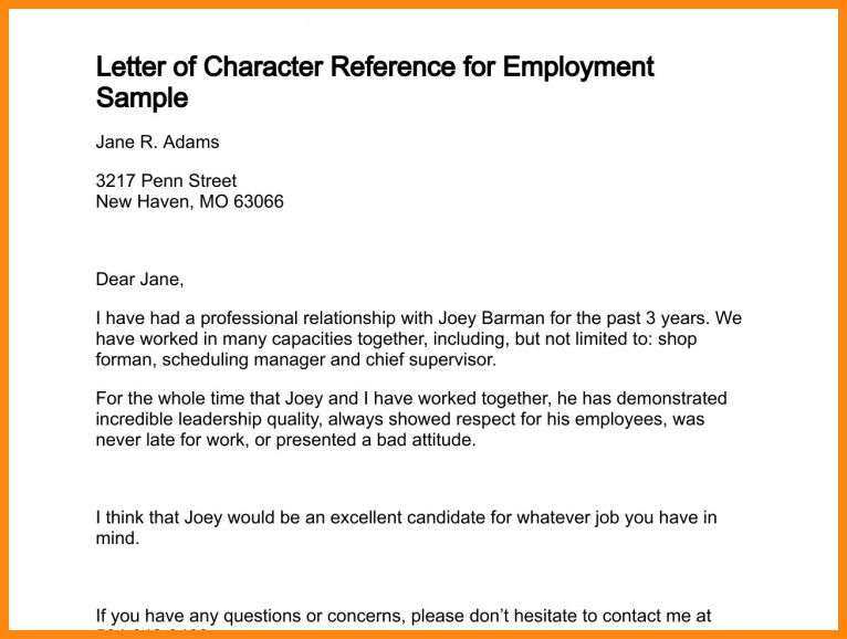 7+ character reference for rental | driver-resume
