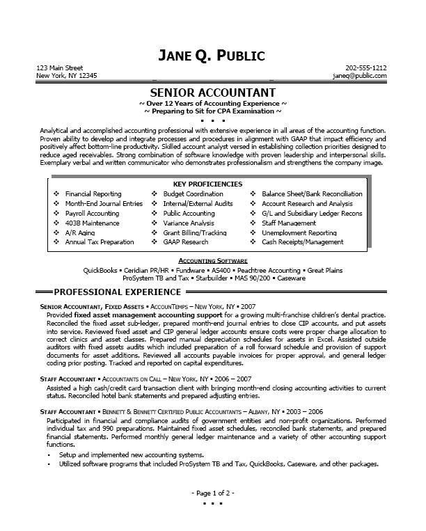 accountant resume example. general accountant resume template ...