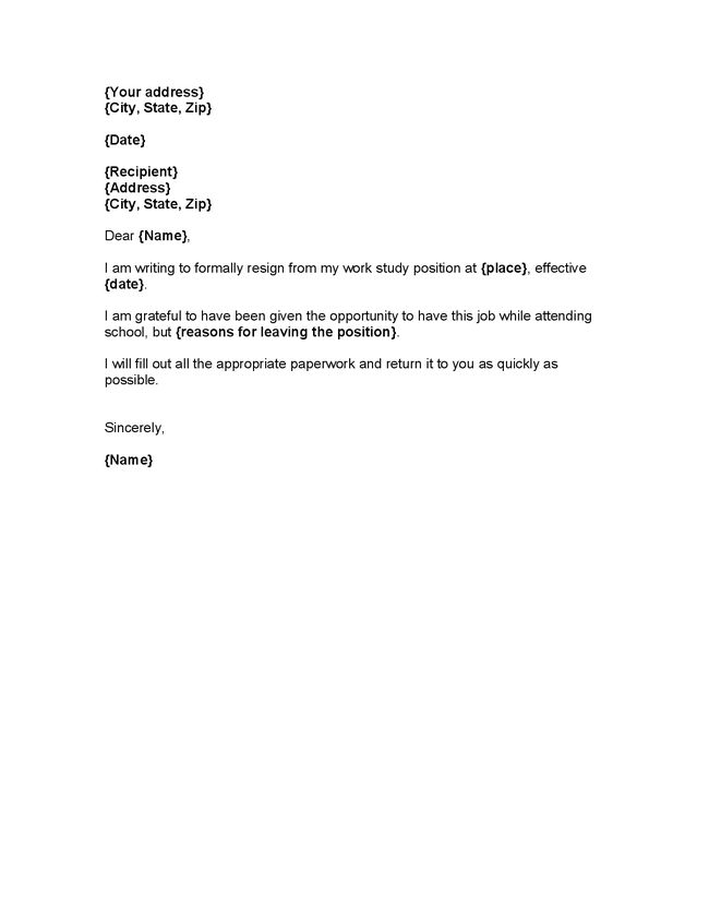 Resume Examples Templates: Part Time Job Resignation Letter ...